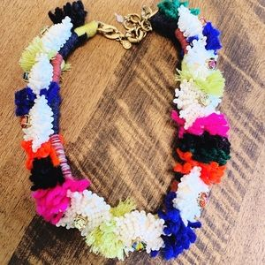 JCrew floral necklace with neon colors